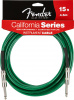 FENDER 15' INSTRUMENT CABLE SURF GREEN инстумента
